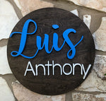 "23"" Custom Name Round Sign - the-beautiful-birch"