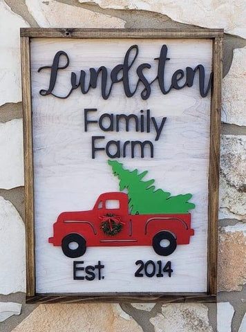"18X12"" Family Farm Christmas Sign - the-beautiful-birch"