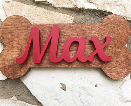 "12X6"" Dog Bone Sign - The Beautiful Birch"