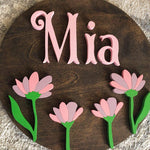 "23"" Wildflower Custom Name Sign - the-beautiful-birch"