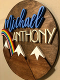 "23"" Rainbow Mountains Sign - the-beautiful-birch"