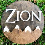 "23"" Snowcap Mountains Sign - the-beautiful-birch"