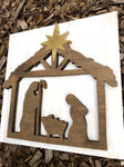 "12X12"" Nativity Scene Sign - the-beautiful-birch"