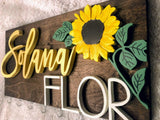 "16X8"" Bow Holder Sunflower"