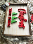 "19X13"" Red Christmas Tree Farm Sign"