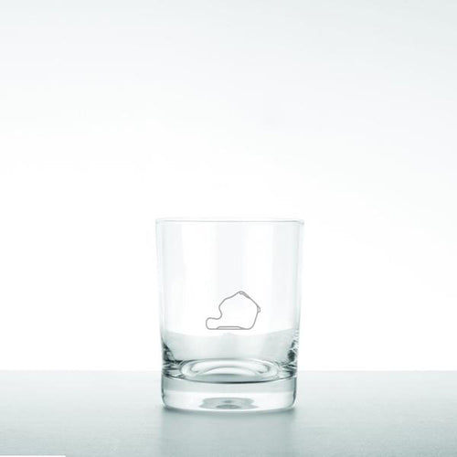 Glass Tumbler - Track Outline (Set of 4)