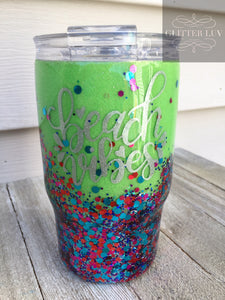 July Subscription Box Glitter Tumbler