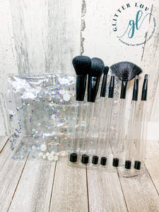 Glitter Luv Accessories Black - Black Finish Makeup 7 Piece Set DIY Make-Up Brush Set