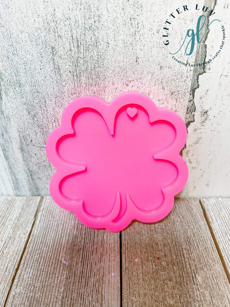 Glitter Luv Accessories Double Clover Mold 4 Leaf Clover Silicone Mold