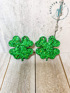Glitter Luv Accessories Double Clover Mold Double Clover Earrings Silicone Mold