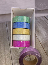 Load image into Gallery viewer, Glitter Washi Tape - 6 Pack
