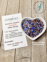 Load image into Gallery viewer, Glitter Luv Aurora's Custom 1.5oz Shaker Aurora's #21 Fireworks