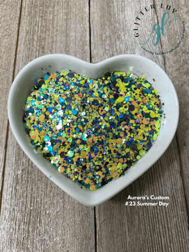 Glitter Luv Aurora's Custom 1.5oz Shaker Aurora's #23 Summer Day