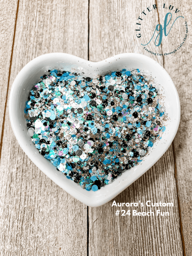 Glitter Luv Aurora's Custom 1.5oz Shaker Aurora's #24 Beach Fun
