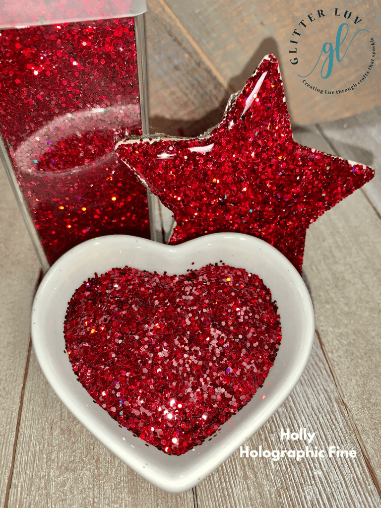 Glitter Luv Fine Holly Holographic