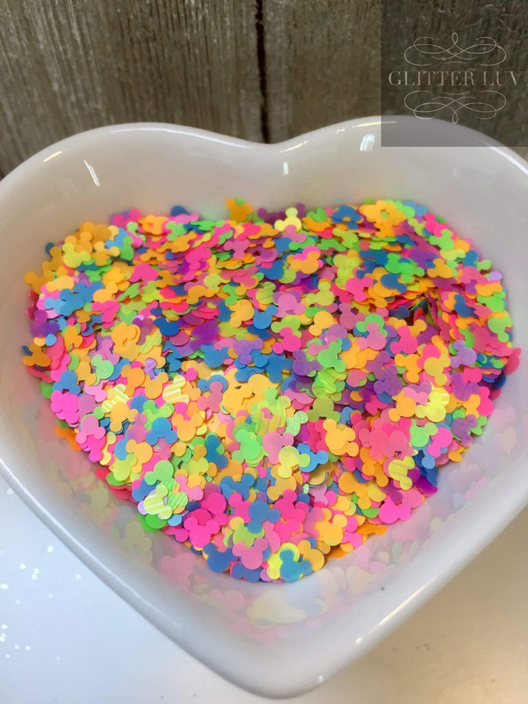 Glitter Luv Shapes 0.5oz Shaker Funfetti Shapes