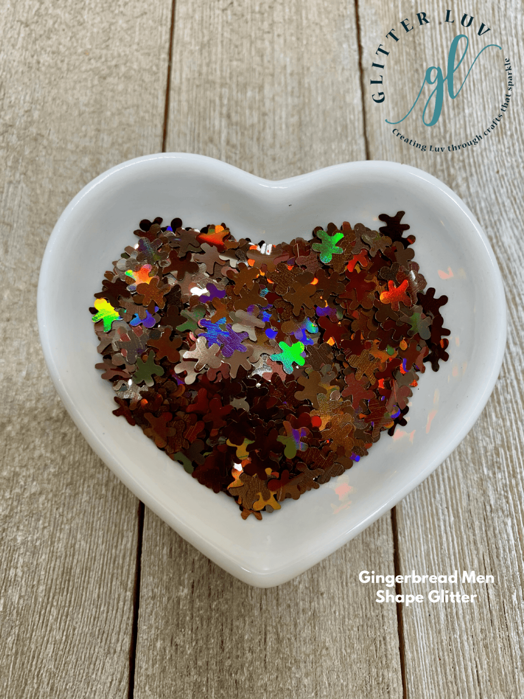 Glitter Luv Shapes 0.5oz Shaker Gingerbread Man Shapes