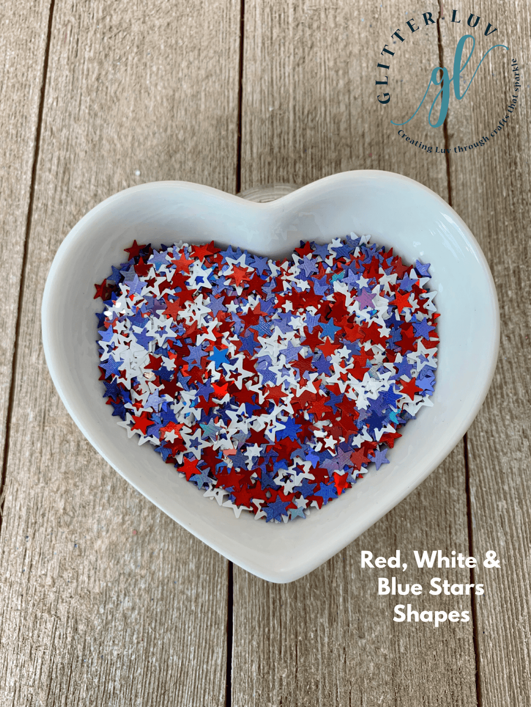 Red, White, Blue Star Shapes