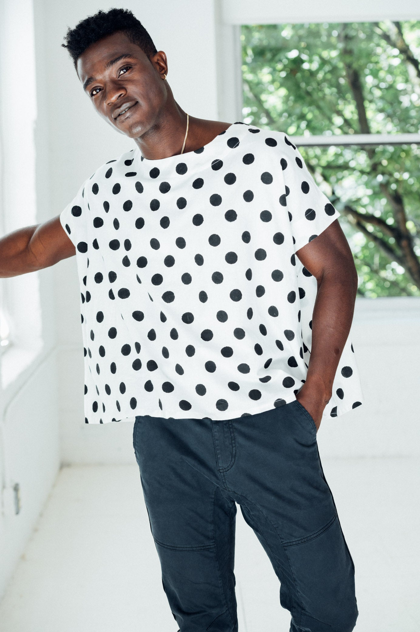 POLKA DOT COTTON TOP