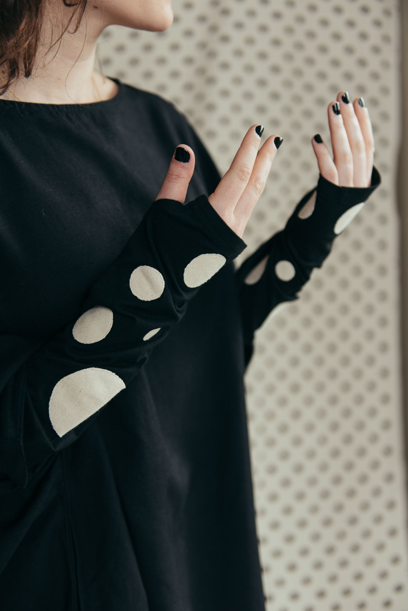 COZY POLKA DOTS TOP