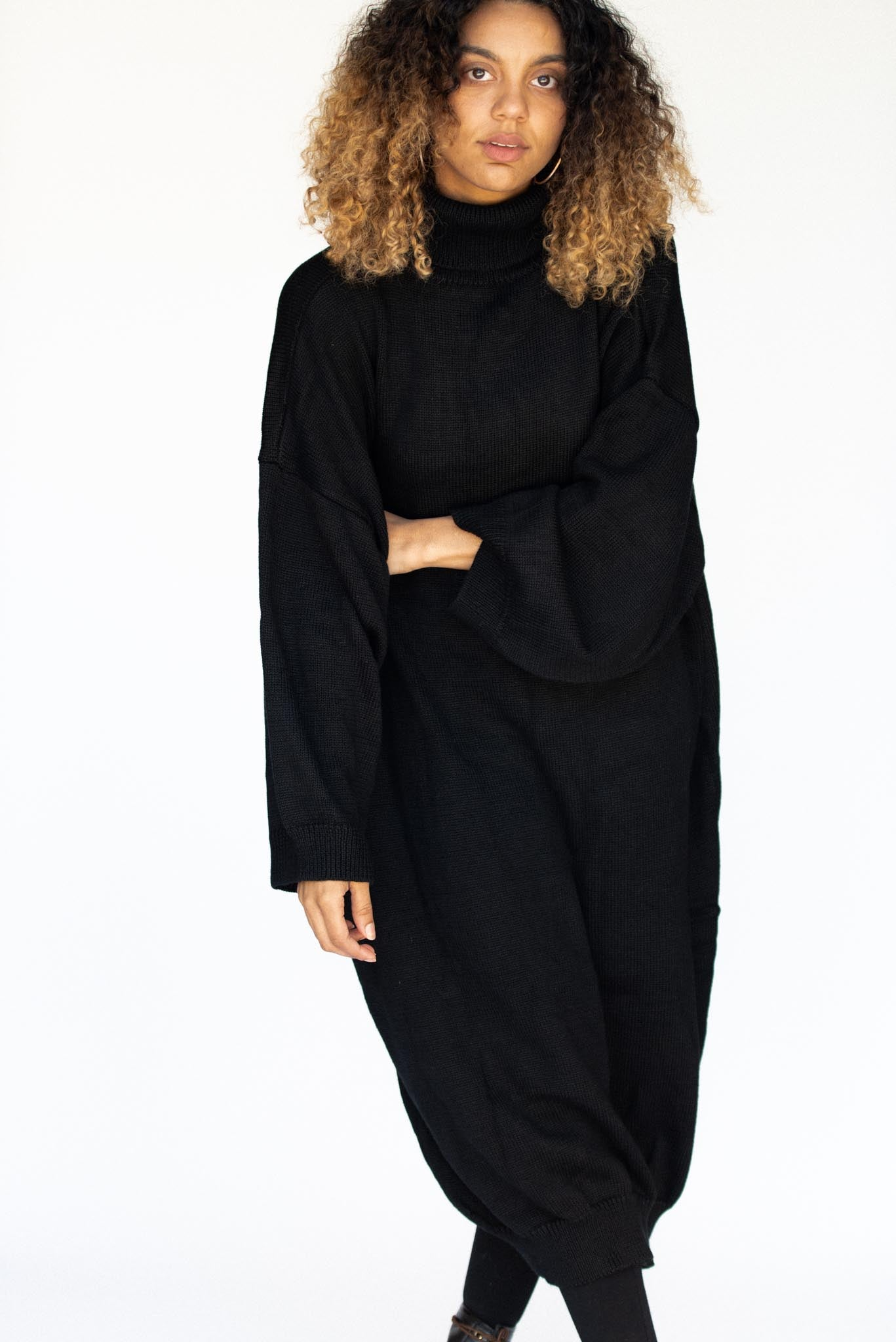 TURTLE NECK OVERSIZE SWEATER/DRESS