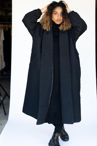 CASHMERE MANTLE OVERCOAT BLACK COLOR