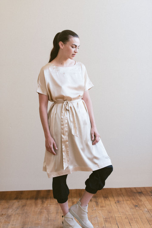 NUDE SILK TUNIC