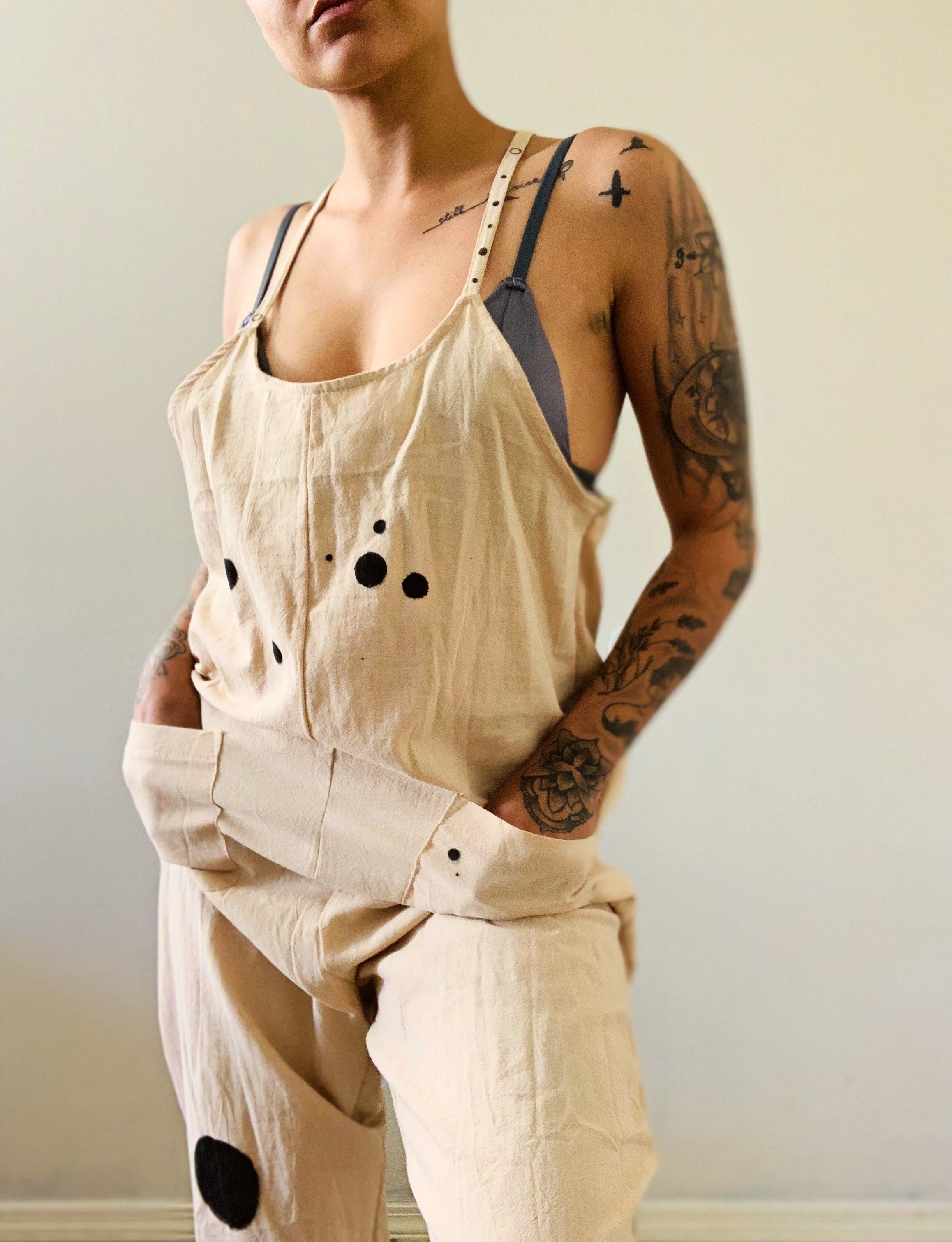 SUMMER HAND PAINTED JUMPSUIT