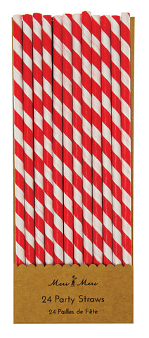 Red & White Straws
