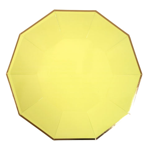 Pale Yellow Dinner Plates (large)