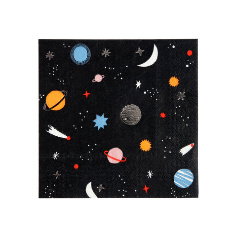To The Moon Small Napkins