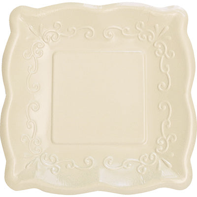 Linen Scalloped Embossed Plate (large)
