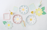 Pastel Daisy Plate