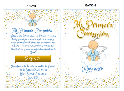 Primer Comunión Party Box Invite (PDF Download)