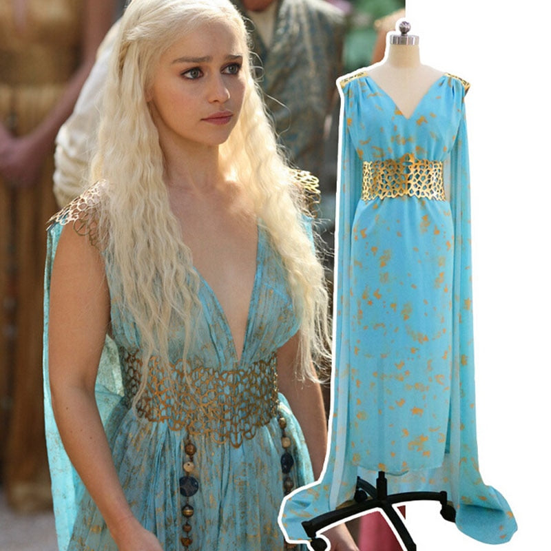 Daenerys Targaryen Costume Mhysa Khaleesi Dresses Women Adult Game Of Thrones Cosplay Halloween Costumes OneShopee - OneShopee #1 Best Selling Luxury Cheap Sexy Swimwear Online Store