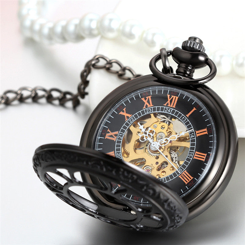 Transparent Mechanical Black Pocket Watch Gift Men and Women Watches Epiya - OneShopee #1 Best Selling Luxury Cheap Sexy Swimwear Online Store