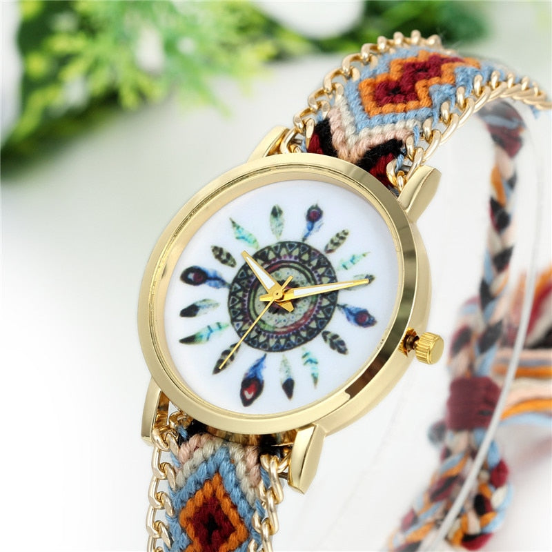 Handmade Braided Friendship Bracelet Hand-Woven Wristwatch Watches OneShopee - OneShopee #1 Best Selling Luxury Cheap Sexy Swimwear Online Store