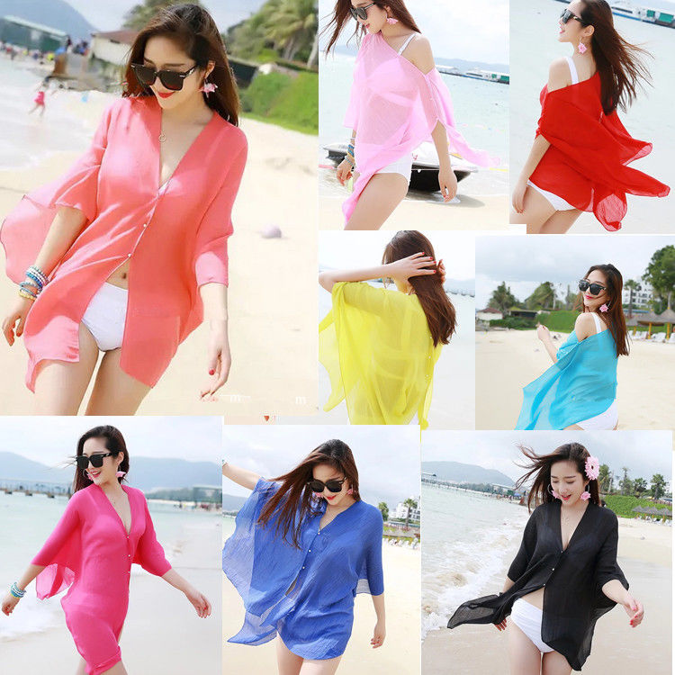 Sexy Chiffon Scarf Cover Up Cover Ups OneShopee - OneShopee #1 Best Selling Luxury Cheap Sexy Swimwear Online Store