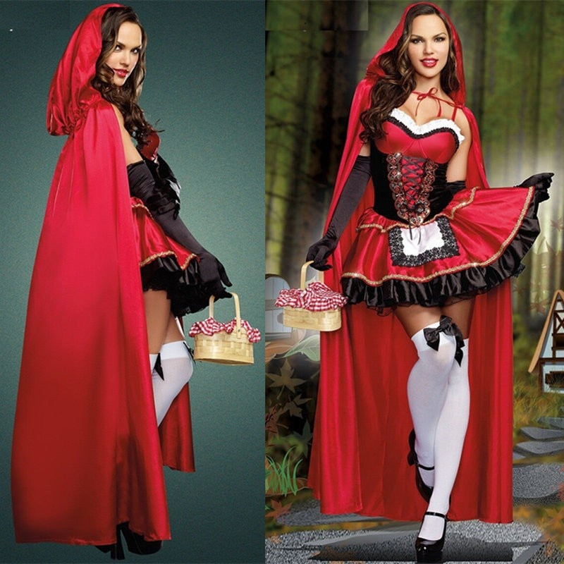Little Red Riding Hood costume princess dress Halloween Costumes Halloween Costumes OneShopee - OneShopee #1 Best Selling Luxury Cheap Sexy Swimwear Online Store