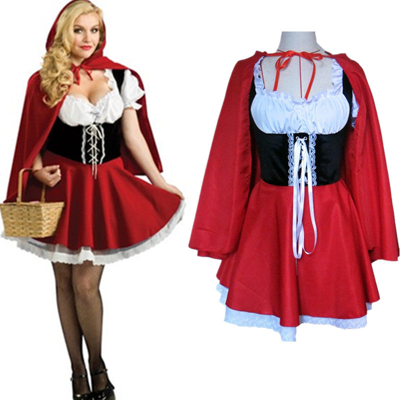 S-6XL Women Fantasy Costume Ladies Little Red Riding Hood Costume Plus Size Halloween Costumes Halloween Costumes OneShopee - OneShopee #1 Best Selling Luxury Cheap Sexy Swimwear Online Store