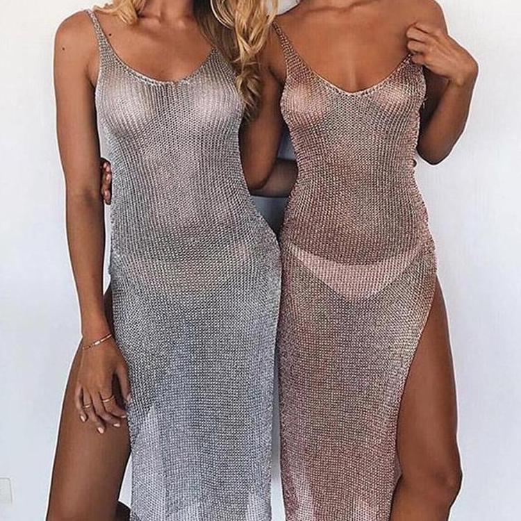 Sexy Knitting Tunic Robe Cover Ups Cover Ups OneShopee - OneShopee #1 Best Selling Luxury Cheap Sexy Swimwear Online Store