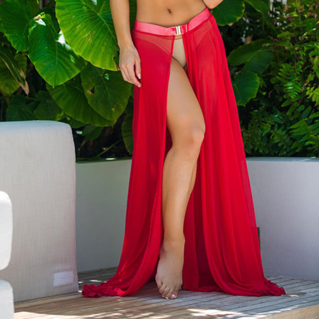 Sheer Beachwear Skirt Sarong Cover Ups Cover Ups OneShopee - OneShopee #1 Best Selling Luxury Cheap Sexy Swimwear Online Store