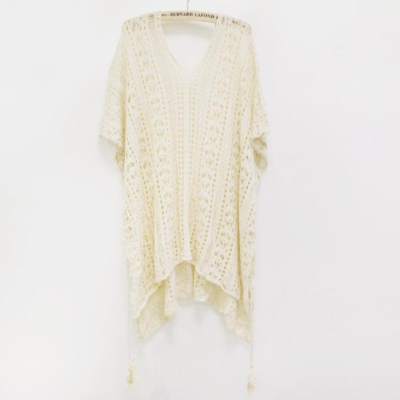 0c076508c965f ... Crochet Knitted Tassel See-through Cover Ups Epiya - OneShopee #1 Best  Selling Luxury ...