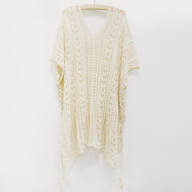 Crochet Knitted Tassel See-through Cover Ups Epiya - OneShopee #1 Best Selling Luxury Cheap Sexy Swimwear Online Store