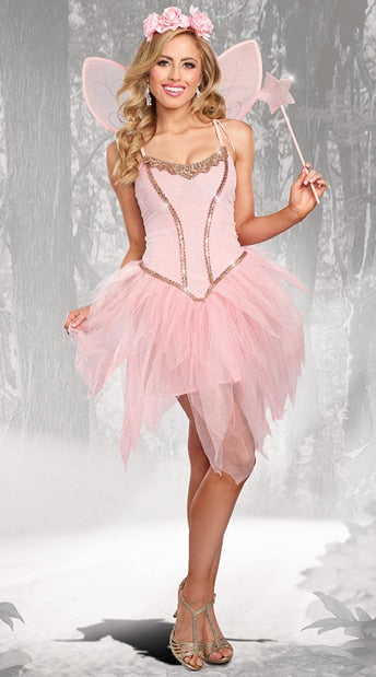 Tinker Bell Costume Carnival Role Play Pink Elf Outfits Halloween Costumes Halloween Costumes OneShopee - OneShopee #1 Best Selling Luxury Cheap Sexy Swimwear Online Store