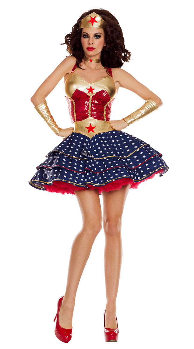 0d5eb32040 Wonder Woman Adult Party Cosplay Halloween Costumes Superman Girl Uniforms