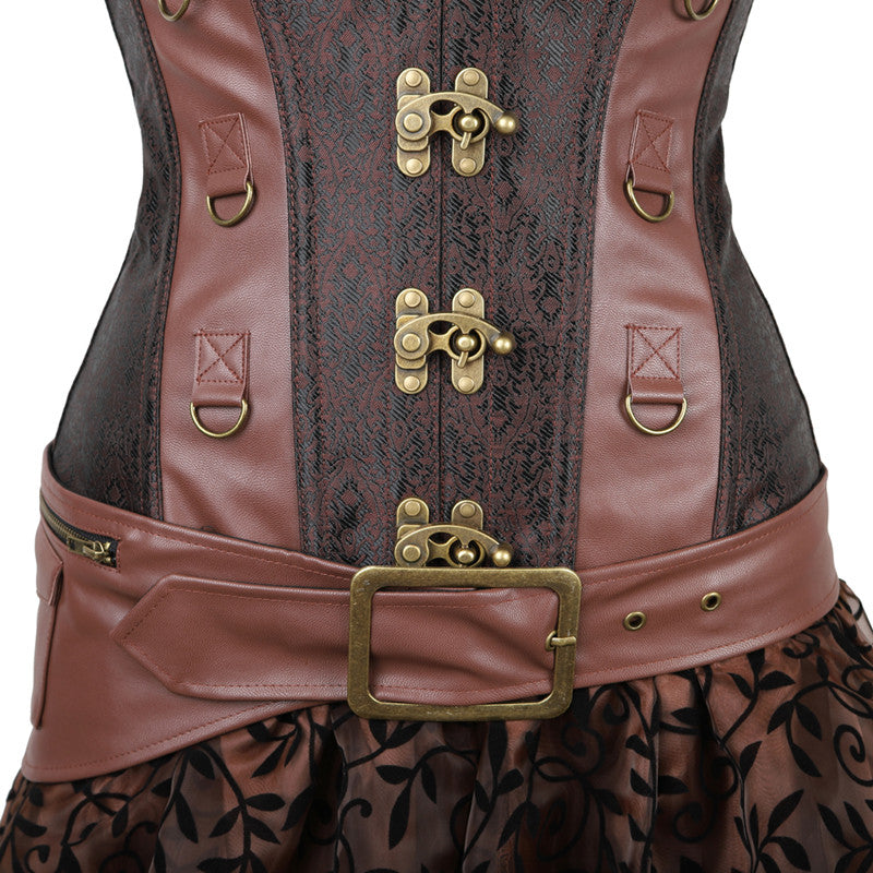 S-6XL Steampunk Overbust Corsets and Bustiers Leather Halloween Halloween Costumes Epiya - OneShopee #1 Best Selling Luxury Cheap Sexy Swimwear Online Store
