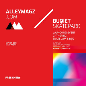 Barter Movement di Launching Alleymagz x Buqiet Skatepark