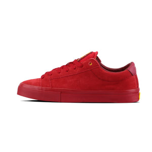 Slim Caven Single Red Suede