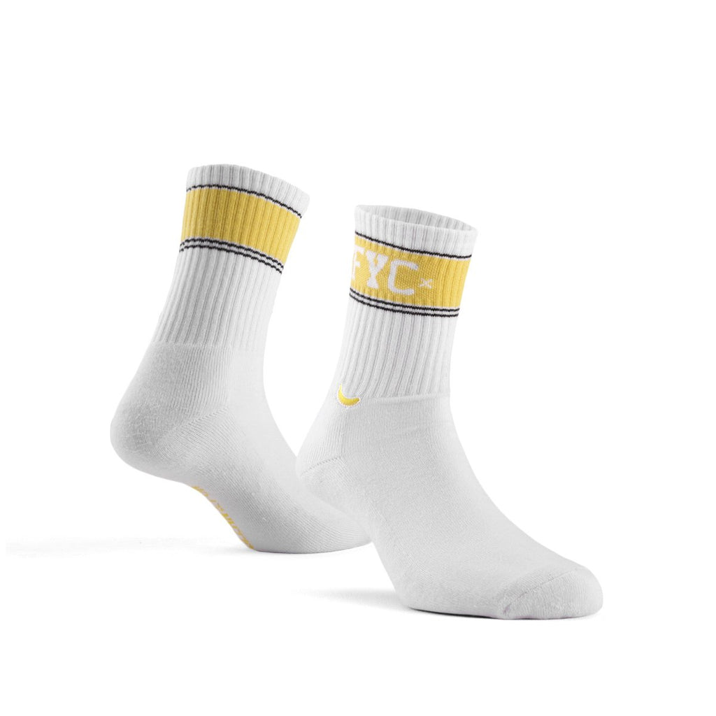 Sock Logo FYC List White Yellow